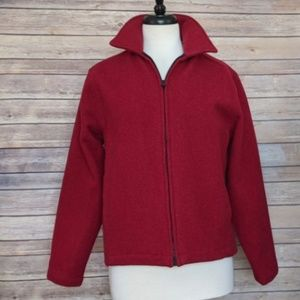 Woolrich 100% wool red zippered jacket  Small